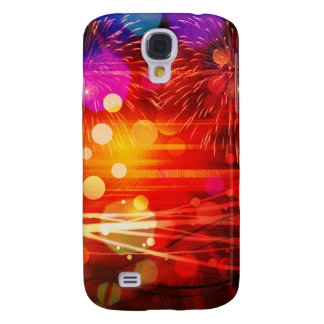 Light Up the Sky Light Rays and Fireworks Galaxy S4 Cover