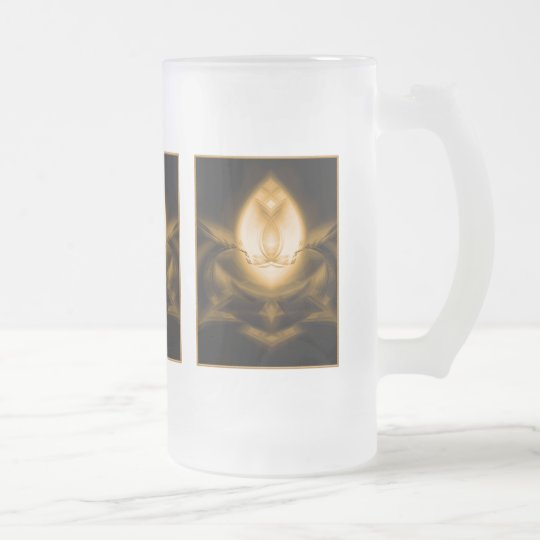 Light Up Your Day Frosted Glass Beer Mug