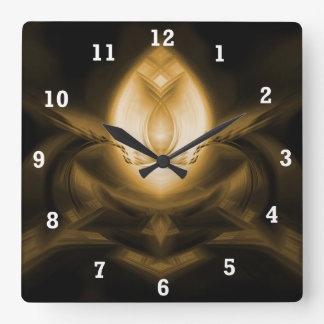 Light Up Your Day Square Wall Clock