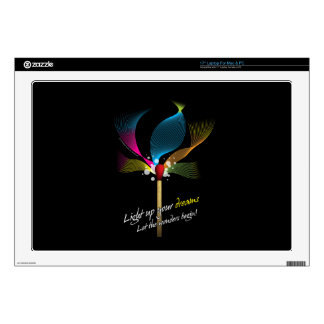 """Light Up Your Dreams Decal For 17"""" Laptop"""