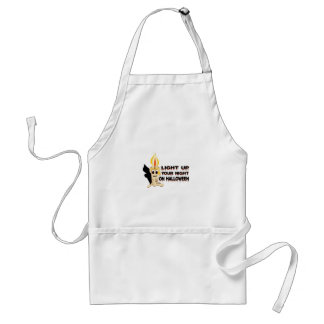 Light Up Your Night On Halloween Adult Apron