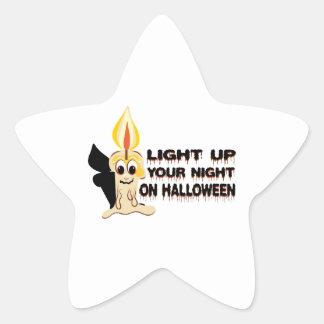 Light Up Your Night On Halloween Star Sticker