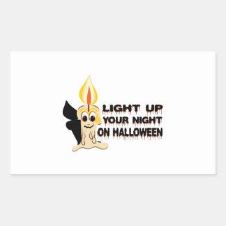 Light Up Your Night On Halloween Rectangular Sticker