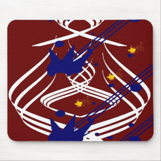 Light Vectors on Blood Red Mousepad