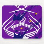 Light Vectors on Violet Mousepad