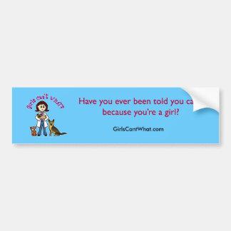 Light Veterinarian Girl Bumper Sticker