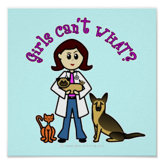 Light Veterinarian Girl Poster