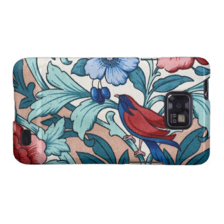 Light Vintage Floral Fabric Bird Android Case Galaxy SII Case