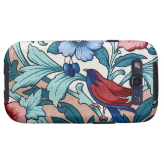 Light Vintage Floral Fabric Bird Android Case Samsung Galaxy SIII Cases
