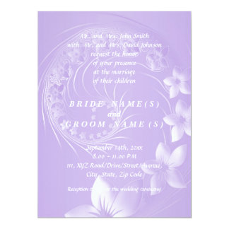 Light Violet Abstract Flowers Card