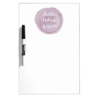Light Violet Watercolor Inspirational Dry Erase Whiteboards