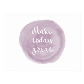 Light Violet Watercolor Inspirational Postcard