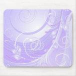 light violet winter mouse pad