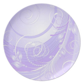 light violet winter party plate