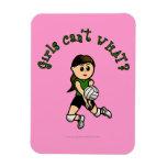 Light Volleyball Girl in Green Uniform Vinyl Magnet