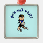 Light Volleyball in Blue Christmas Ornament