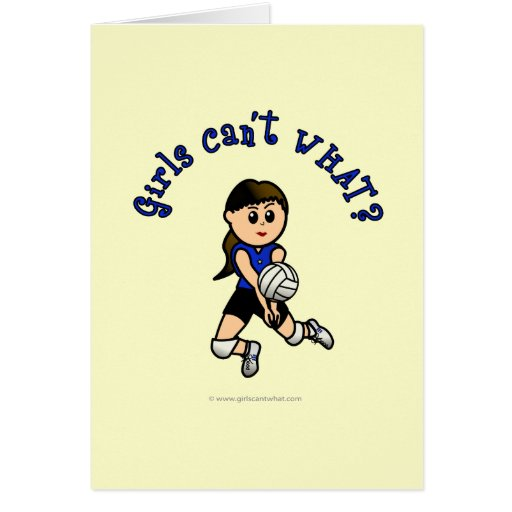 Light Volleyball in Blue Greeting Card