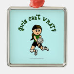 Light Volleyball in Green Christmas Tree Ornament