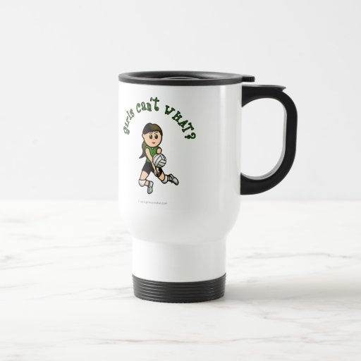 Light Volleyball in Green Mug