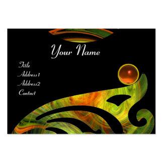 LIGHT VORTEX AGATE black yellow orange green Large Business Card