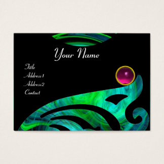 LIGHT VORTEX AMETHYST pink blue green black yellow Business Card