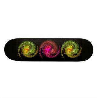 LIGHT VORTEX ,black  red pink yellow green orange Skate Board