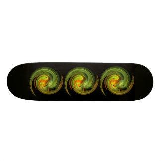 LIGHT VORTEX ,black yellow green orange Skate Board Decks