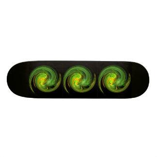 LIGHT VORTEX ,black yellow green Custom Skate Board