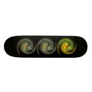 LIGHT VORTEX ,black yellow grey orange Skate Board Decks