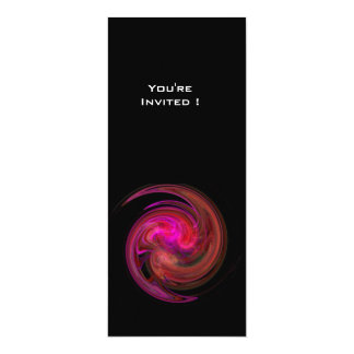 LIGHT VORTEX bright pink red violet purple black Card