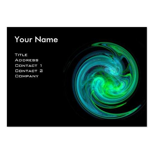 LIGHT VORTEX MONOGRAM Vibrant black blue green Business Card Template
