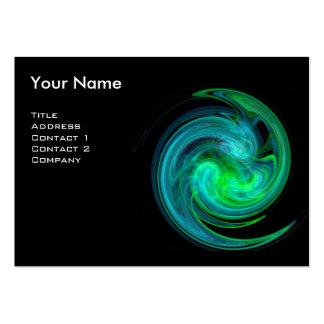 LIGHT VORTEX MONOGRAM Vibrant black blue green Large Business Card