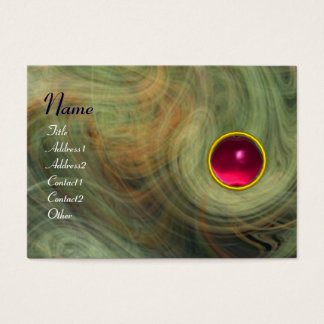 LIGHT VORTEX  RUBY green yellow grey red pink Business Card