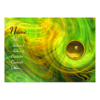 LIGHT VORTEX  TOPAZ green yellow orange blue Large Business Card
