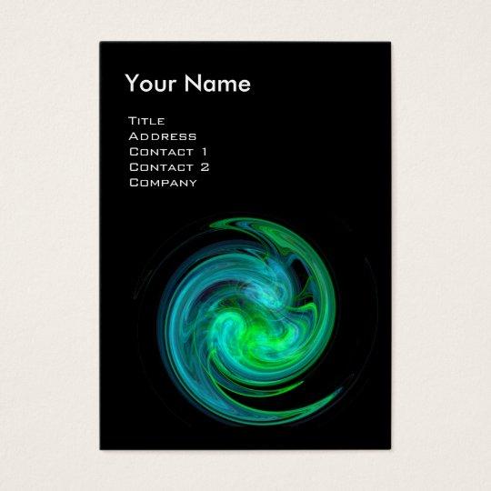 LIGHT VORTEX ,vibrant black blue green Business Card