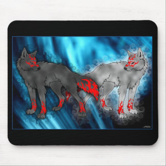 Light Vs. Dark Wolf Mousepad