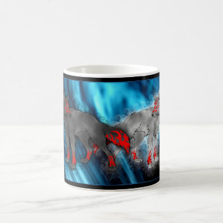 Light Vs. Dark Wolf Mug