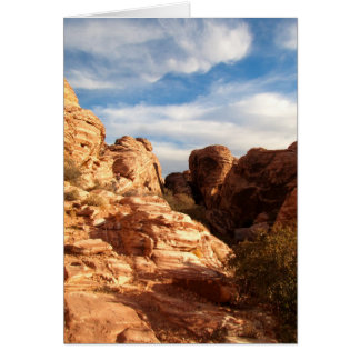 Light vs Shadow on Red Cliffs; Customizable Card
