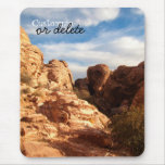 Light vs Shadow on Red Cliffs; Customizable Mouse Pad