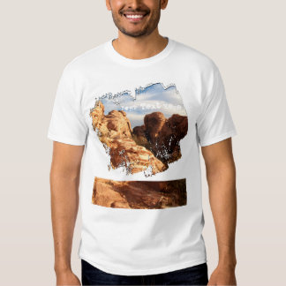Light vs Shadow on Red Cliffs; Customizable T Shirt