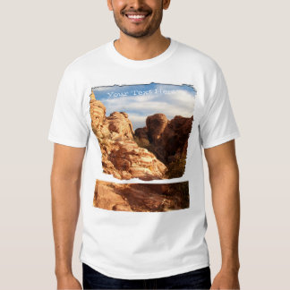 Light vs Shadow on Red Cliffs; Customizable Tshirts