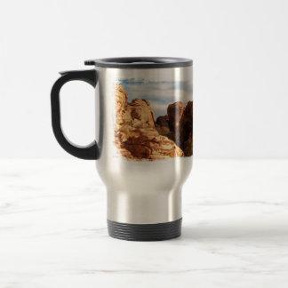 Light vs Shadow on Red Cliffs Coffee Mug