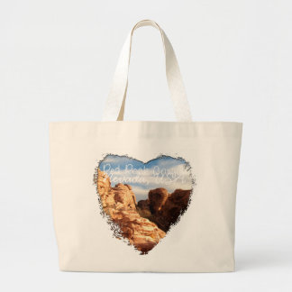 Light vs Shadow on Red Cliffs; Nevada Souvenir Large Tote Bag