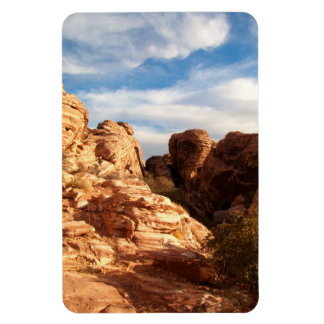 Light vs Shadow on Red Cliffs Rectangular Photo Magnet