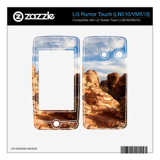 Light vs Shadow on Red Cliffs LG Rumor Touch Decal