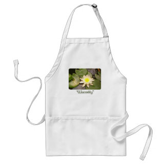 Light Water lily Adult Apron