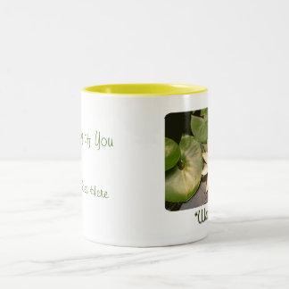 Light Water lily Two-Tone Coffee Mug