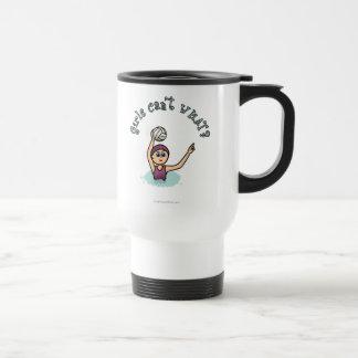 Light Water Polo Player Girl Travel Mug