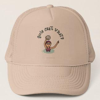 Light Water Polo Player Girl Trucker Hat