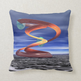 Light Wave 5 Designer Pillow by CricketDiane